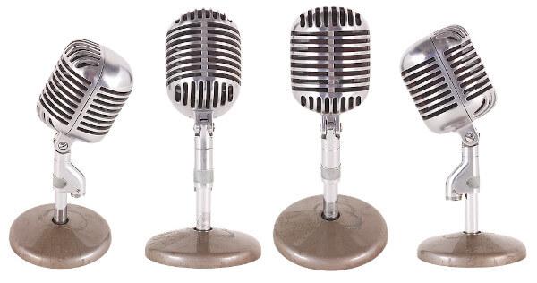 Micrófono para grabar un podcast