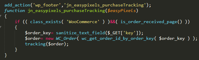 Códigos de seguimiento de venta en la página de gracias de WooCommerce